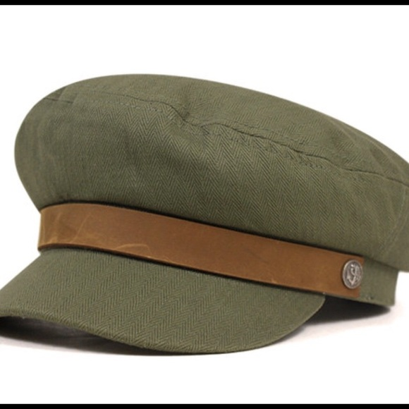3a96eb30230a9 Brixton Accessories - BRIXTON Olive Green Fiddler Hat - Large